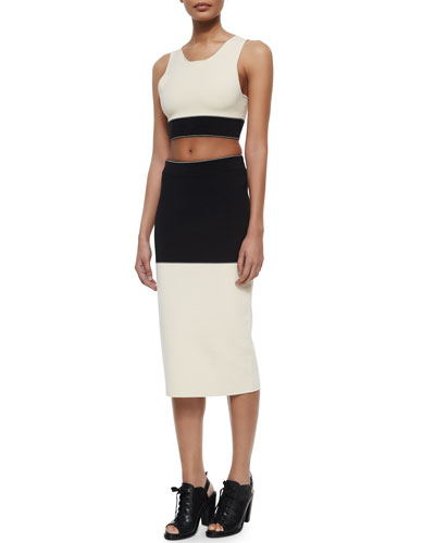 Regina Colorblock Crop Top & Midi Skirt