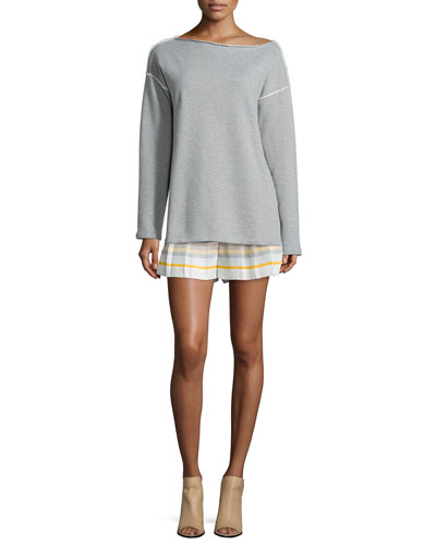 Long-Sleeve Drift Tunic & Holten Striped Flared Shorts