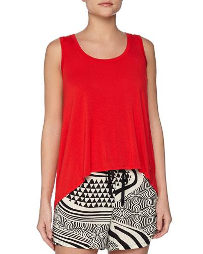 Swing Knit Tank & Woodcut Multi-Pattern Lounge Shorts