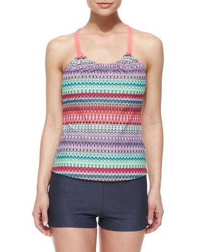 Soul Energy Printed Tankini Swim Top & Jumpstart Swim Shorts