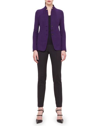 Cashmere-Blend Jersey Reversible Button Jacket, Bicolor Reversible Cashmere-Blend Jersey Top & Melissa Techno Cotton Pants