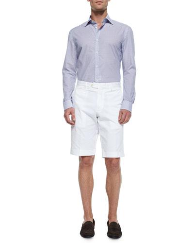 Mini Floral-Print Woven Sport Shirt & Woven Cotton Shorts