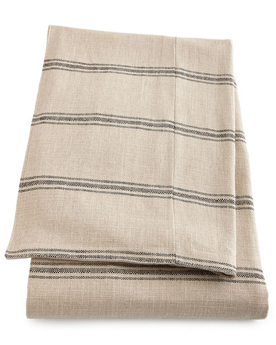 Ticking-Stripe Coverlet
