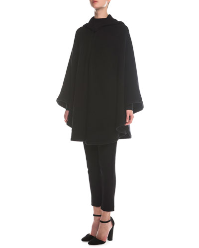 Sheer Paneled Turtleneck Top, Sheer Paneled Turtleneck Top & Jersey Zip-Cuff Ankle Pants