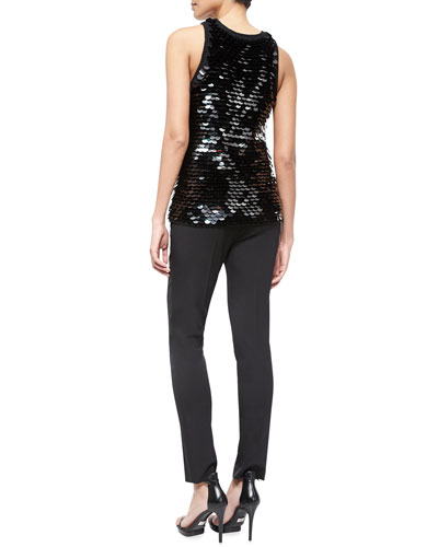 Michael Kors Collection Sequined Tank & Skinny Pants