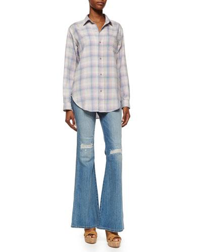 The Prep School Shirt & The Girl Crush Flare Jeans