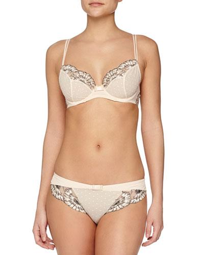 Dahlia Classic Underwire Bra & Lace-Trimmed Bikini Brief