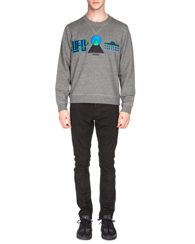 UFO Symbol Sweatshirt & Brushed-Cotton Chino Pants