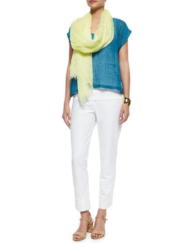 Eileen Fisher Linen Gauze Short Top, Slim Tank,