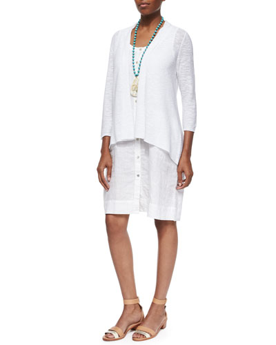 Organic Linen Cotton Cardigan & Sleeveless Organic Linen Dress, Petite