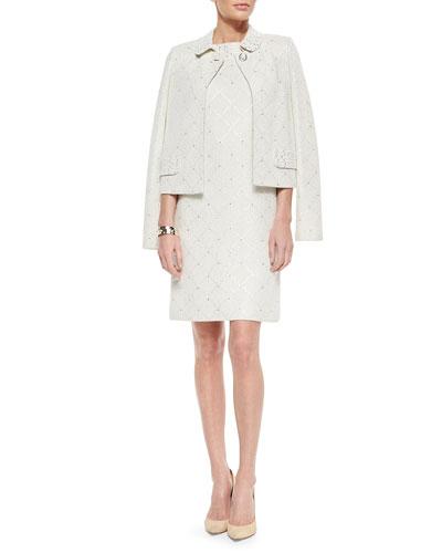 Paillette Sparkle Mini Tweed Jacket, Paillette Sparkle Mini Tweed Dress, Jacket & Bangle Bracelets
