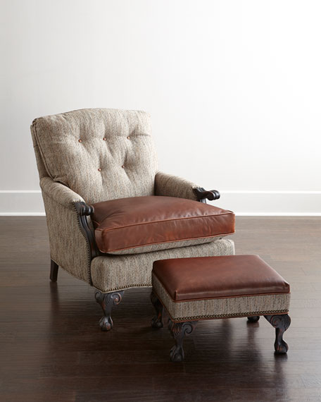 Old Hickory TanneryBeaumont Leather Ottoman