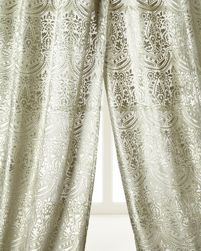 Grazia Burnout Velvet Curtains