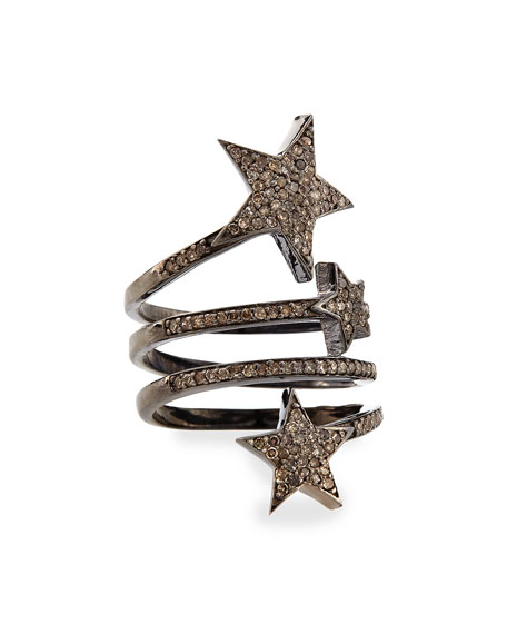 Siena Jewelry Triple Star Diamond Ring, Size 8