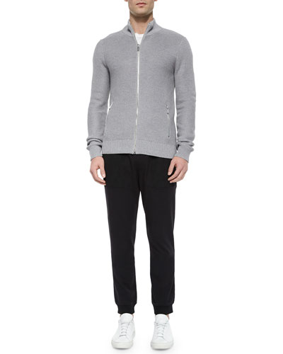 Tuckstitched Full-Zip Jacket & Woven Track Pants with Mesh Pockets