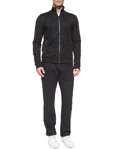 Full-Zip Cotton Track Jacket & Woven Track Pants with Mesh Pockets