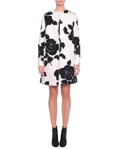 Floral-Print Topper Coat & Shift Dress
