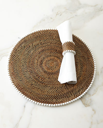 Bead-Rimmed Placemats & Napkin Rings