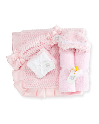 Ziggy Hooded Towel, Receiving Blanket, Security Blanket & Burp Cloth, Pink