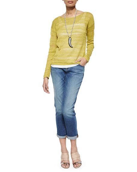 Eileen Fisher Stretch Boyfriend Jeans, Faded Blue, Petite