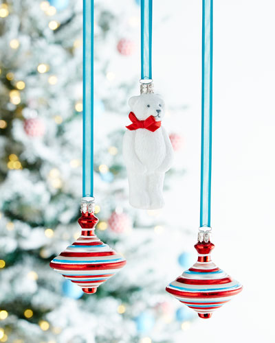 Bear & Top Christmas Ornaments