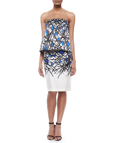 Eloise Strapless Printed Top & Abstract-Print Pencil Skirt