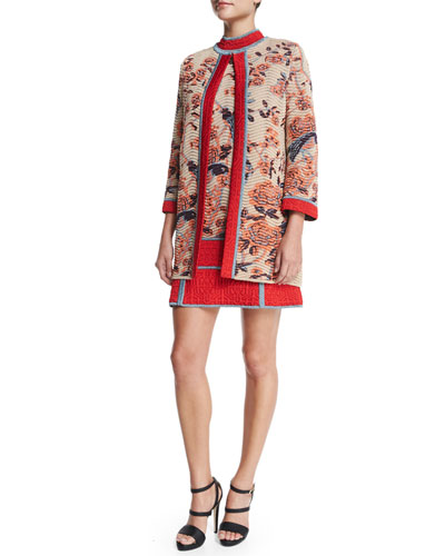 Floral Tapestry Jacquard Coat & Dress