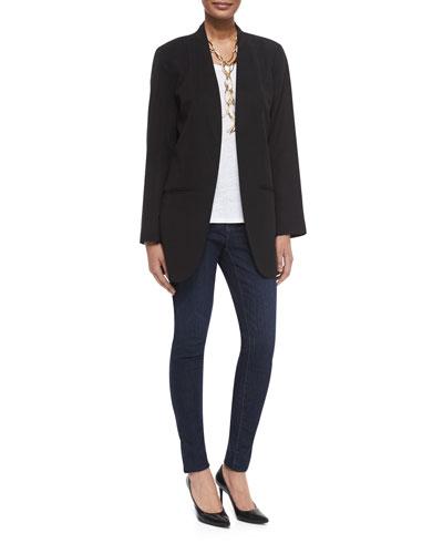 Fisher Project Long Lightweight Twill Jacket, Slub Organic Linen Jersey Long Tank & Organic Soft Stretch Skinny Jeans