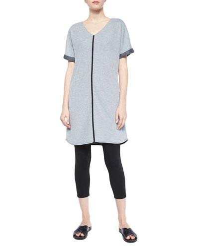 Short-Sleeve Long Tunic & Jersey Ankle Leggings, Women's