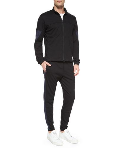 Full-Zip Track Jacket & Side Stripe Cotton Sweatpants