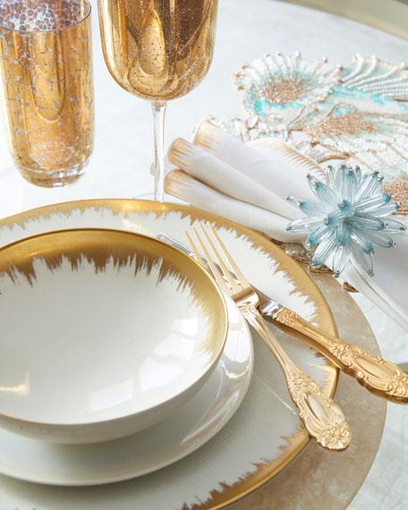 Opal Golden Brushstroke Dinner Plate