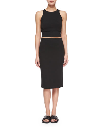 Tenreg Sleeveless Crop Top & Lijnek Pencil Skirt