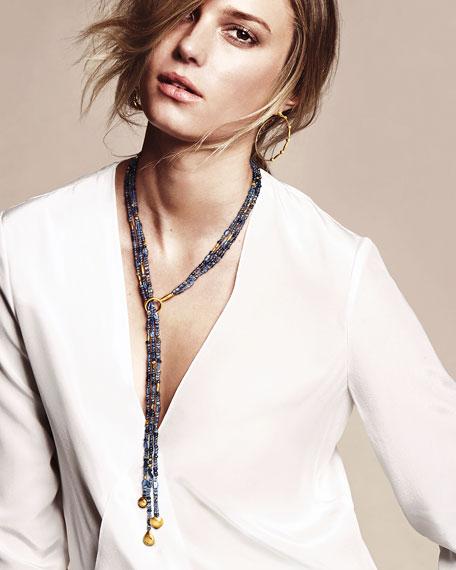 Gurhan Rain Flurries Triple Strand Scarf Necklace