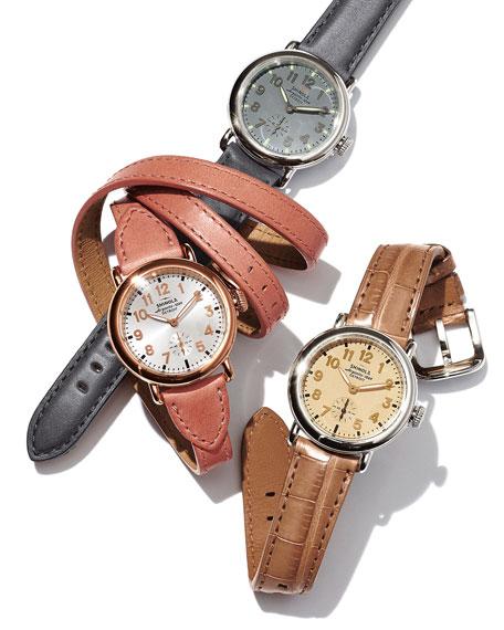 Shinola The Runwell Stainless Steel Slate Watch with