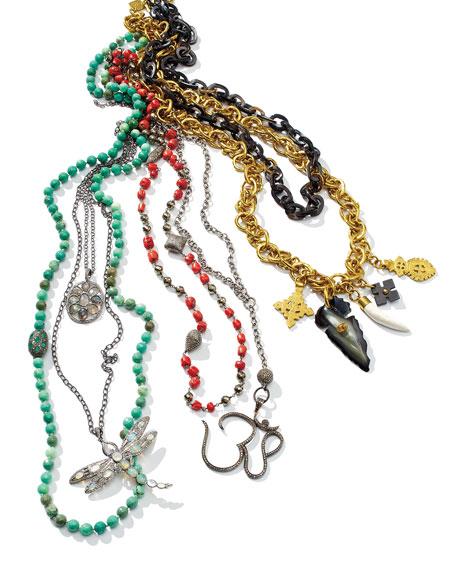 Siena Jewelry Silver Labradorite & Diamond Mandala Pendant