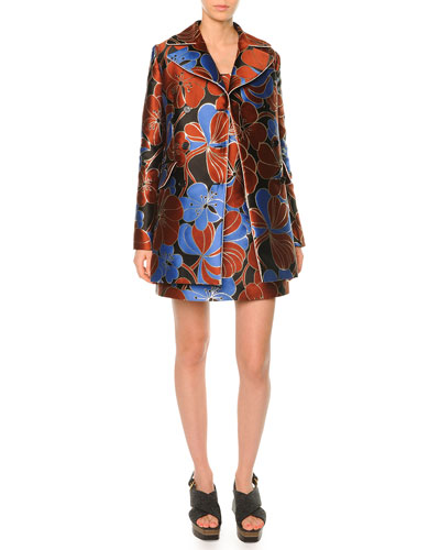 Pimpernel Blossom Double Breasted Coat & Pimpernel Blossom Jacquard Dress