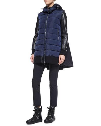 Blois Flyaway Back Coat & Black Stretch Pants
