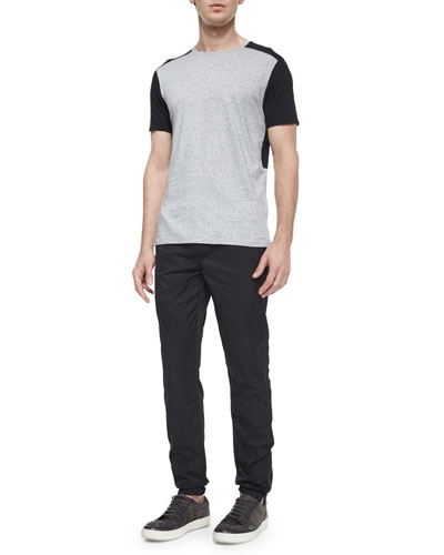 Colorblock Short-Sleeve Jersey Tee & Tech City Drawstring Jogger Pants