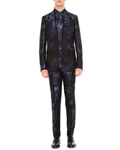 Camu Butterfly Two-Piece Suit & Dress Shirt