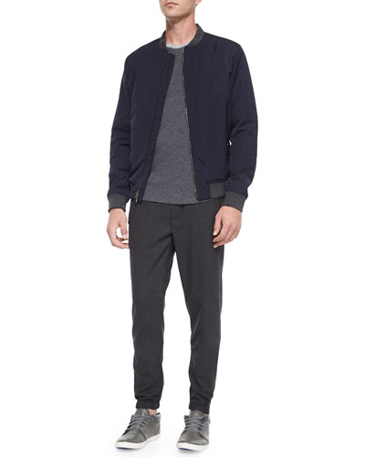 Lightweight Bomber Jacket, Slub Long-Sleeve Baseball Tee & Traveler Wool Jogger Pants
