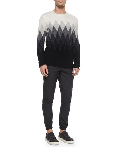Ombre Diamond-Print Wool Sweater & Traveler Wool Jogger Pants