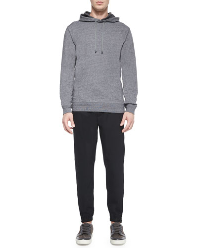 Long-Sleeve Pullover Hoodie & Traveler Wool Jogger Pants
