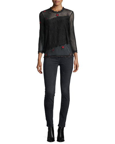 Tita Deluxe Mesh Top & Emma Bandes Skinny Pants
