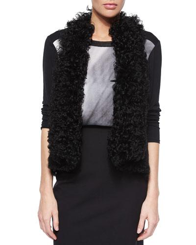 Brooke Curly Shearling Fur Vest