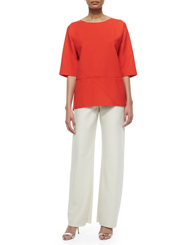 Double-Face Wool Pants & Seamed Tunic