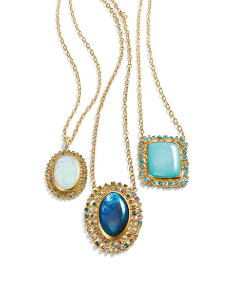 Gurhan Confetti Collection Turquoise Pendant Necklace