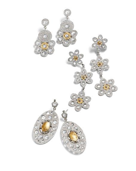 COOMI Opera Gold Center Oval Drop Earrings