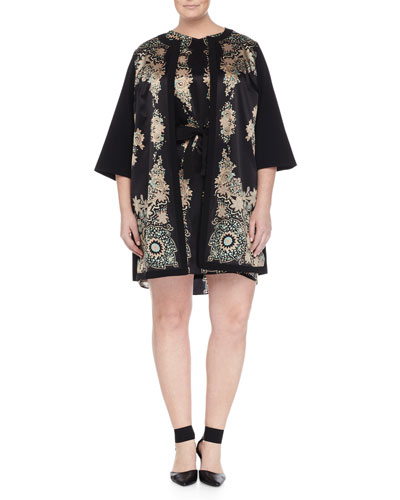 Scarf-Print Topper Jacket & Dorico Scarf-Print Dress W/ Belt, Women