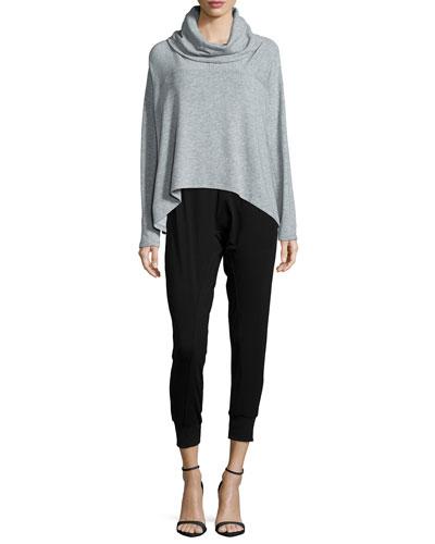 Drapey Tencel® Terry Crop Top, Organic Cotton Slim Tank & Jersey Ankle Harem Pants
