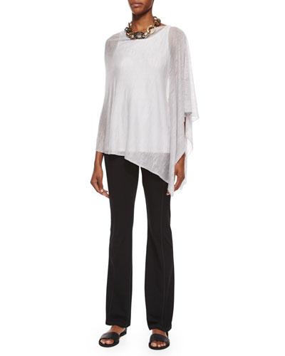 Tencel®-Linen Slub Poncho, Lightweight Jersey Tank & Stretch Jersey Yoga Pants, Petite